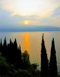 Sonnenaufgang über dem Gardasee