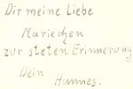 1940er - Johann Schmidt als Soldat (rückseitiger Text)