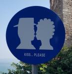 Schild in Sirmione (Gardasee)