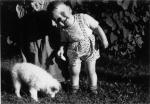 """1954 - mit """"Teddy"""" vom Nachbarhof"""